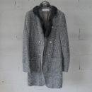 System(시스템) 울 혼방 금장 버튼 장식 셔링 배색 여성용 코트 [동대문점]