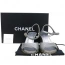 Chanel(샤넬) 15P G30669X15116 커스텀진주 COCO로고 실버메탈릭 레더 여성 샌들 [강남본점]