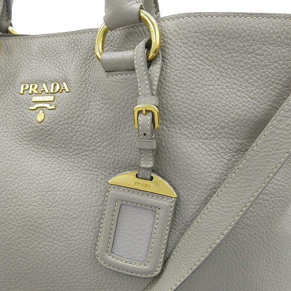 Prada(프라다) BN1713 금장 로고 그레이컬러 레더 미란다커 2WAY [강남본점] 이미지4 - 고이비토 중고명품