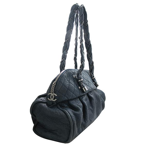 Chanel(샤넬) 램스킨 퀼팅 메탈 체인 COCO로고 장식 빅 숄더백 [인천점] 이미지2 - 고이비토 중고명품