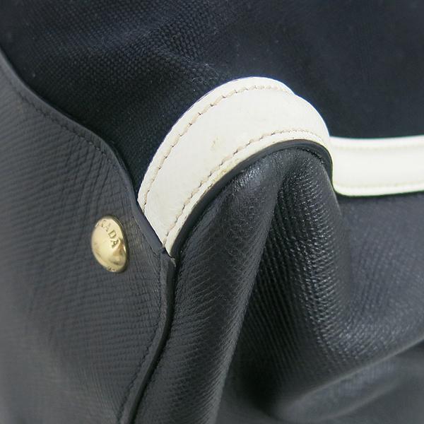 Prada(프라다) BN2580 블랙 화이트 투톤 배색 사피아노 트리밍 토트백 [동대문점] 이미지5 - 고이비토 중고명품