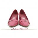 Ferragamo(페라가모) 은장 바라 장식 핑크 레더 여성용 구두 [강남본점]