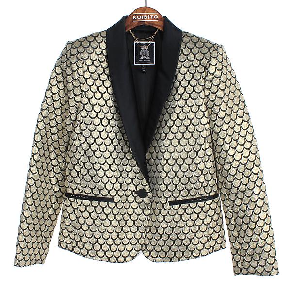 JUICY COUTURE (쥬시꾸띄르) 골드 컬러 여성용 숄카라 자켓[부산센텀본점]