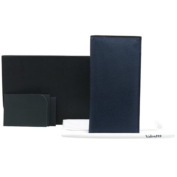 VALEXTRA(발렉스트라) V8L21 다크네이비컬러 버티칼 장지갑  [대구동성로점]
