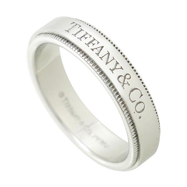Tiffany(티파니) PT950 (플래티늄) 신형 밀그레인 엣지 4mm 밴드 반지 [대구반월당본점]