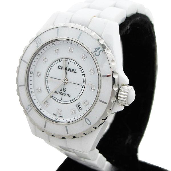 Chanel(샤넬) H1629 J12 화이트 세라믹 12포인트 다이아 38mm 오토메틱 남성용 시계  [대구동성로점] 이미지4 - 고이비토 중고명품