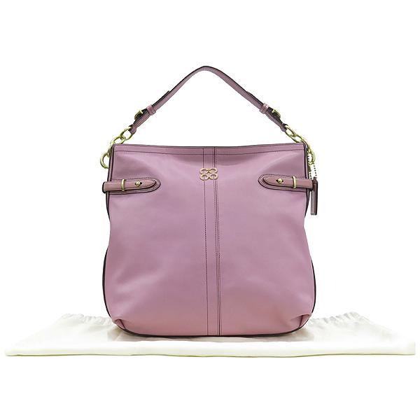 Coach(코치) 16413 로고 장식 핑크 레더 여성용 숄더백 [대구동성로점]