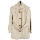 MICHAA(미샤) 100% 라마 아이보리 컬러 여성용 코트 [동대문점]