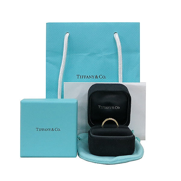 Tiffany(티파니) 23579219 18K 옐로우골드 1837 인터로킹 반지 - 6호  [대구반월당본점]