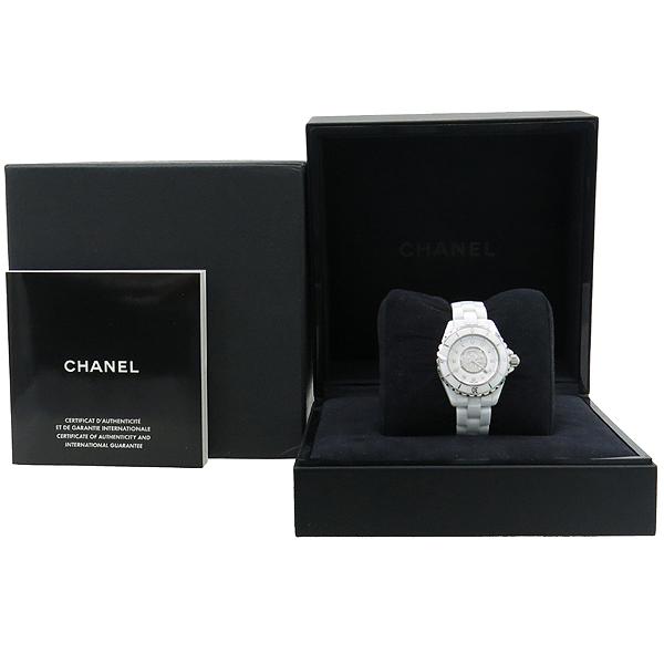 Chanel(샤넬) H2123 J12 다이아 세팅 화이트 세라믹 쿼츠 여성용 시계 [대전본점]