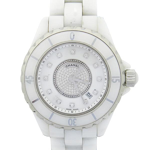 Chanel(샤넬) H2123 J12 다이아 세팅 화이트 세라믹 쿼츠 여성용 시계 [대전본점] 이미지2 - 고이비토 중고명품