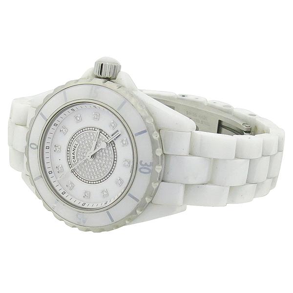 Chanel(샤넬) H2123 J12 다이아 세팅 화이트 세라믹 쿼츠 여성용 시계 [대전본점] 이미지3 - 고이비토 중고명품