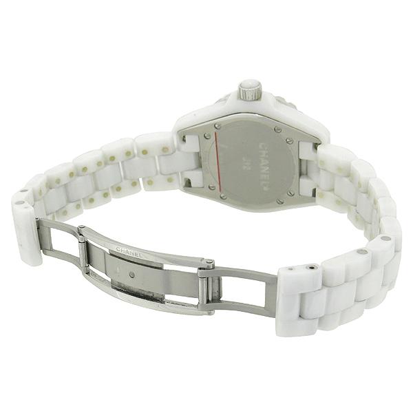 Chanel(샤넬) H2123 J12 다이아 세팅 화이트 세라믹 쿼츠 여성용 시계 [대전본점] 이미지4 - 고이비토 중고명품