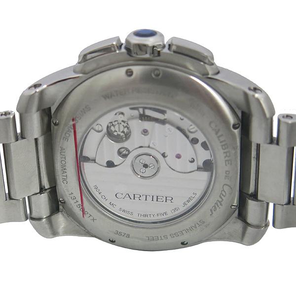 Cartier(까르띠에) W7100045 CALIBRE DE CARTIER(칼리브 드 까르띠에) 크로노그래프 오토매틱 스틸 남성용 시계 [동대문점] 이미지5 - 고이비토 중고명품