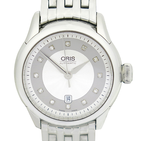ORIS(오리스) ORIS(오리스) 7604 12포인트 다이아  시스루백 오토매틱 스틸 밴드 여성용 시계 [강남본점]