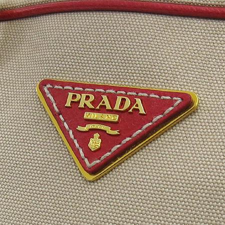 Prada(프라다) BL0713 브라운 자가드 레드 레더 트리밍 토트백 + 숄더 스트랩 [부산센텀본점] 이미지4 - 고이비토 중고명품
