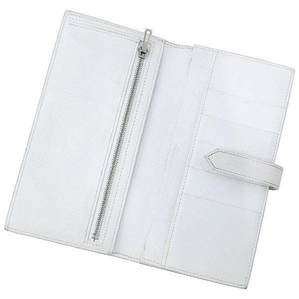 Hermes(에르메스) H 은장 로고 스카이블루 / 화이트 컬러 베안 장지갑 [강남본점] 이미지3 - 고이비토 중고명품