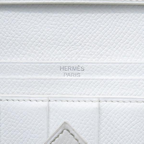 Hermes(에르메스) H 은장 로고 스카이블루 / 화이트 컬러 베안 장지갑 [강남본점] 이미지5 - 고이비토 중고명품