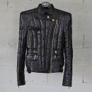 Balmain(발망) 13FW 7924 105X 블랙 컬러 여성용 파워 숄더 라이더 패딩 자켓 [동대문점]