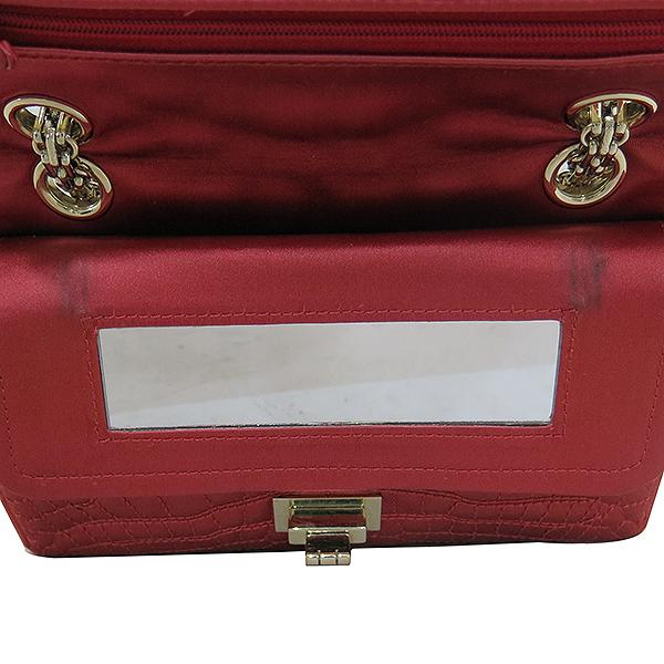 Chanel(샤넬) 크루즈컬렉션 크로커다일 패턴 패브릭 스티치 금장체인 미니 숄더겸 크로스백 [부산센텀본점] 이미지4 - 고이비토 중고명품