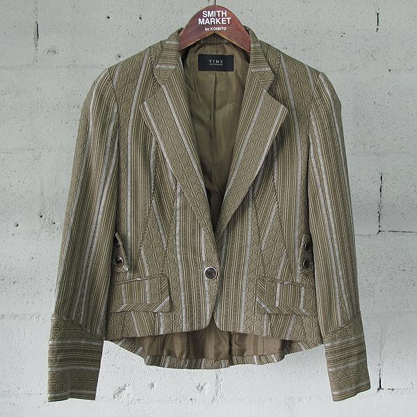 Time(타임) 면 100% 브라운 컬러 에스닉 패턴 여성용 자켓 [동대문점]