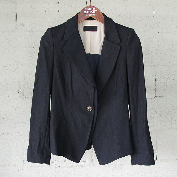Mine(마인) 리넨 혼방 블랙 컬러 은장 버튼 여성용 자켓 [동대문점]