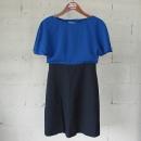 MICHAA(미샤) 블루+블랙 컬러 여성용 원피스 [동대문점]