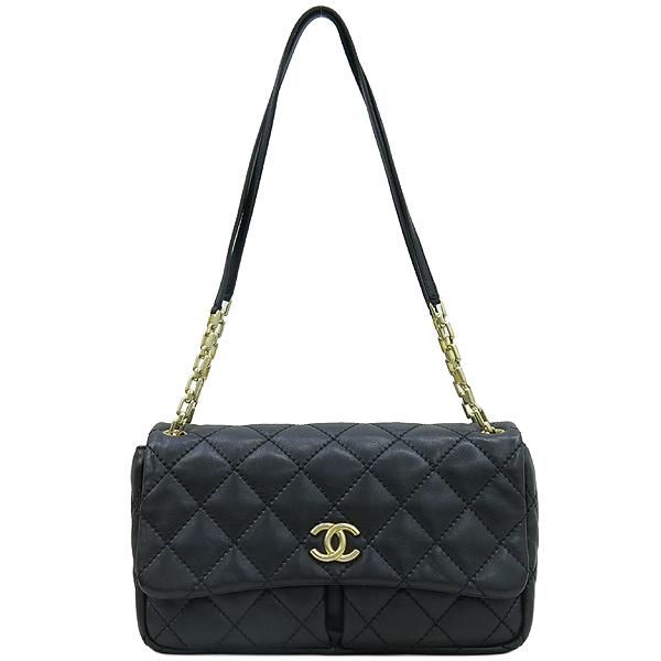 Chanel(샤넬) 블랙레더 퀼팅 COCO 금장로고 체인 플랩 숄더백 [강남본점] 이미지2 - 고이비토 중고명품