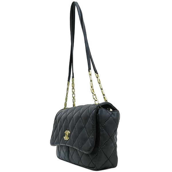 Chanel(샤넬) 블랙레더 퀼팅 COCO 금장로고 체인 플랩 숄더백 [강남본점] 이미지3 - 고이비토 중고명품