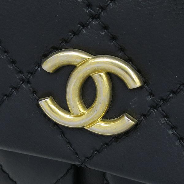 Chanel(샤넬) 블랙레더 퀼팅 COCO 금장로고 체인 플랩 숄더백 [강남본점] 이미지4 - 고이비토 중고명품