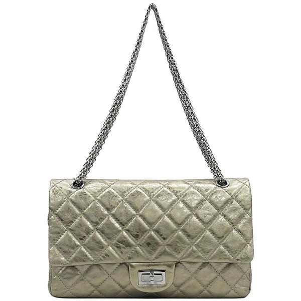 Chanel(샤넬) 2.55 골드 메탈릭 빈티지 L 사이즈 금장 체인 숄더백 [강남본점] 이미지2 - 고이비토 중고명품