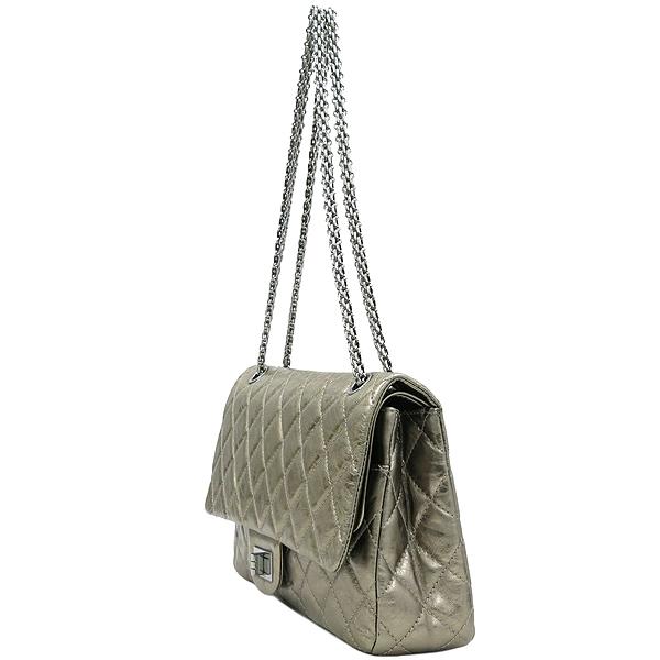 Chanel(샤넬) 2.55 골드 메탈릭 빈티지 L 사이즈 금장 체인 숄더백 [강남본점] 이미지3 - 고이비토 중고명품