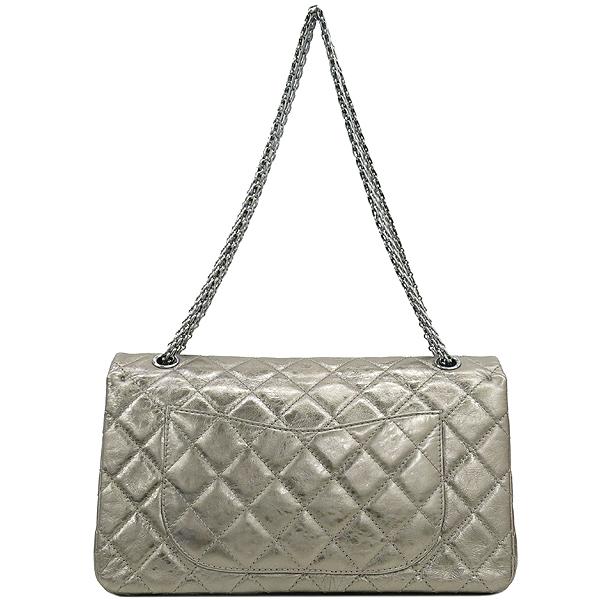 Chanel(샤넬) 2.55 골드 메탈릭 빈티지 L 사이즈 금장 체인 숄더백 [강남본점] 이미지5 - 고이비토 중고명품