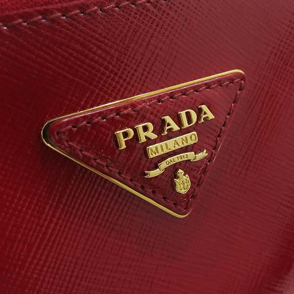 Prada(프라다) BN2274 레드 페이던트 사피아노 럭스 토트백 + 숄더 스트랩 [인천점] 이미지4 - 고이비토 중고명품