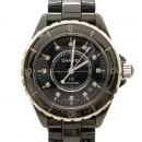 Chanel(샤넬) J12 다이아 38MM 블랙 세라믹 오토메틱 시계 (W)
