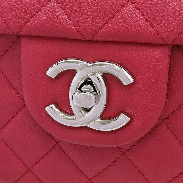 Chanel(샤넬) 크루즈컬렉션 클래식 캐비어스킨 은장 COCO로고 L사이즈 체인 숄더백 [강남본점] 이미지5 - 고이비토 중고명품