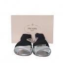 Prada(프라다) 1X247D 실버 컬러 밴딩 스트랩 여성용 샌들 [동대문점]