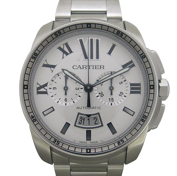 Cartier(까르띠에) W7100045 CALIBRE DE CARTIER(칼리브 드 까르띠에) 크로노그래프 오토매틱 스틸 남성용 시계 [동대문점] 이미지2 - 고이비토 중고명품