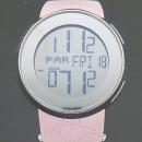 Gucci(구찌) YA114404 I GUCCI 디지털 GG로고 핑크 러버 밴드 여성용시계 [부산센텀본점]