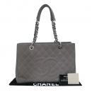 Chanel(샤넬) A50995 캐비어스킨 그레이 그랜드샤핑 은장로고 체인 숄더백 [부산센텀본점]