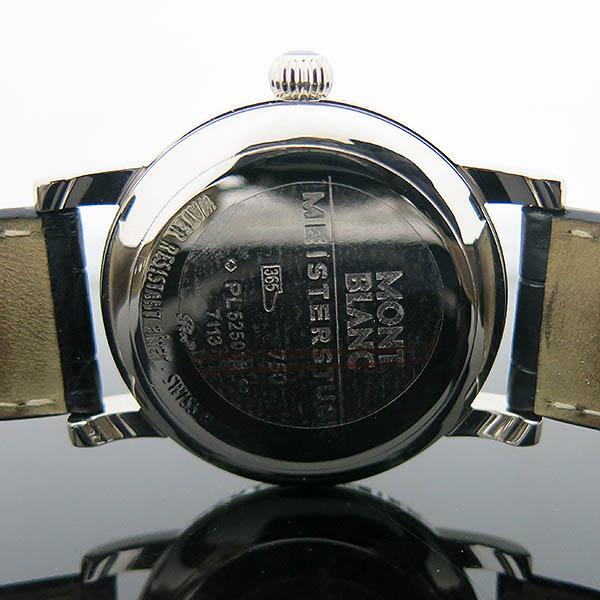 Montblanc(몽블랑) 101639 STAR AUTOMATIC 스타 오토매틱 데이트 18K 화이트골드 금통 케이스 로마인덱스 그레이 기로쉐 다이얼 악어스트랩 가죽밴드 남성용시계 [부산센텀본점] 이미지7 - 고이비토 중고명품