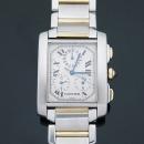 Cartier(까르띠에) W51004Q4 탱크프랑세즈 콤비 크로노플렉스 남성용 시계  [대구동성로점]