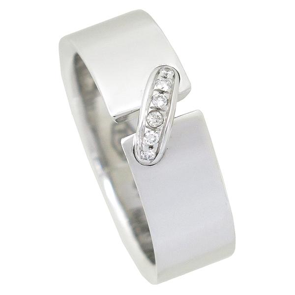CHAUMET(쇼메) 18K 화이트골드 6MM 리앙 6포인트 다이아몬드 반지 - 16.5호 [강남본점]