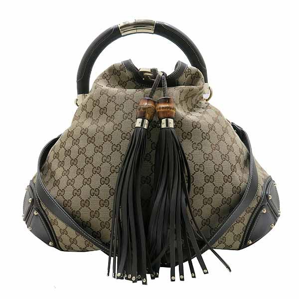 Gucci(구찌) 182888 자가드 뱀부 장식 트리밍 인디백 숄더백 [인천점] 이미지2 - 고이비토 중고명품