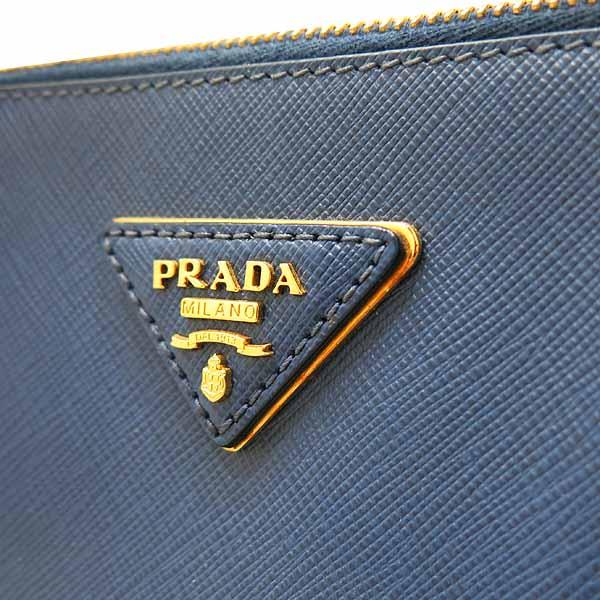Prada(프라다) BN1802 블루 사피아노 레더 럭스 토트백[대전본점] 이미지4 - 고이비토 중고명품