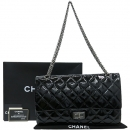 Chanel(샤넬) A37590 2.55 빈티지 블랙 페이던트 L 사이즈 은장 체인 숄더백 [강남본점]
