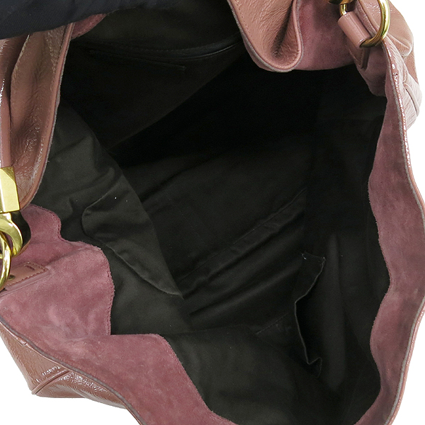 YSL(입생로랑) 228840 로디 핑크컬러 페이던트 레더 숄더백