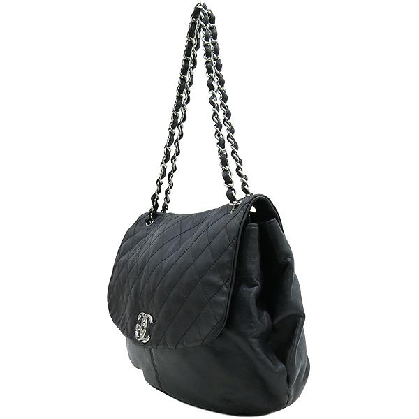Chanel(샤넬) COCO 은장 로고 블랙 램스킨 체인 숄더백 [강남본점] 이미지2 - 고이비토 중고명품