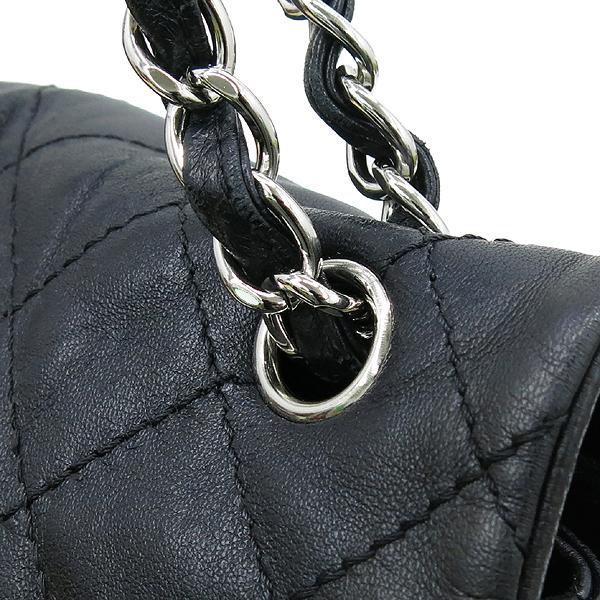 Chanel(샤넬) COCO 은장 로고 블랙 램스킨 체인 숄더백