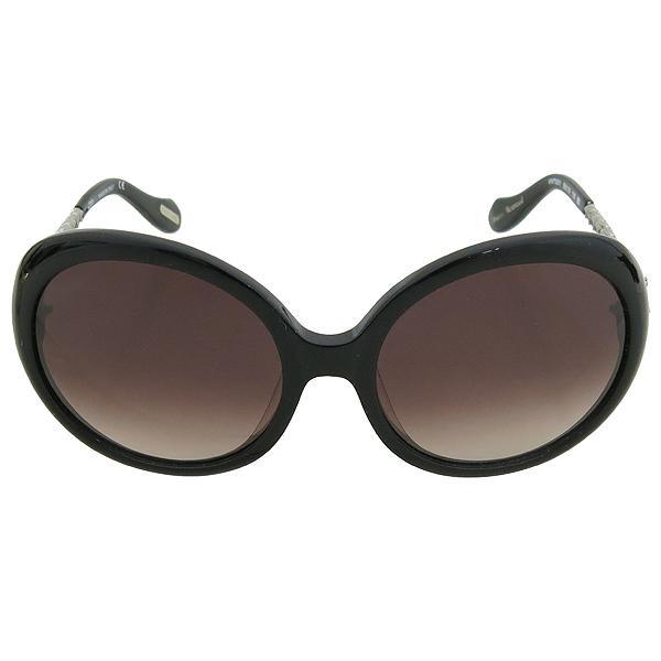 Vivienne_Westwood VW79301 측면 은장 로고 장식 블랙 선글라스 이미지2 - 고이비토 중고명품